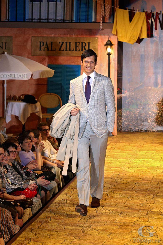 Съёмка на показе Pal Zileri