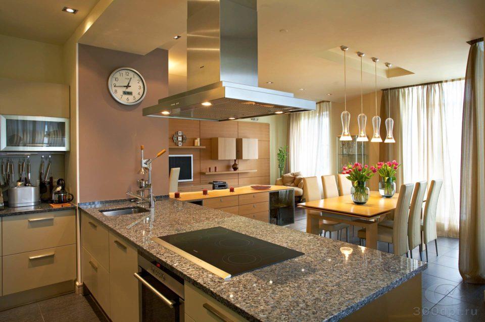 Интерьер кухни - гостиной