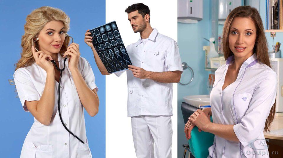 Постер для каталога медицинской одежды
