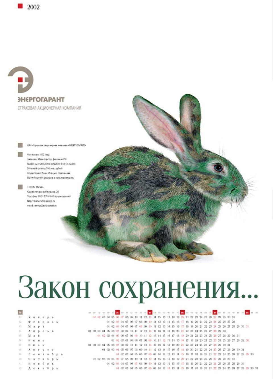 Съёмка животных для календаря