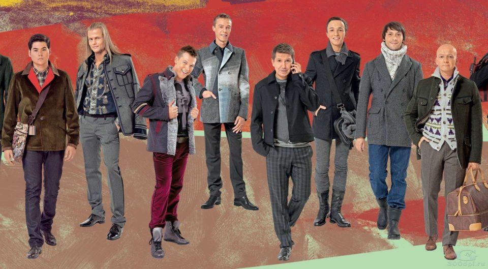 Съёмка мужской одежды для постера